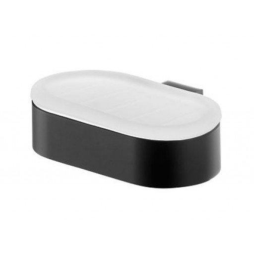 Стенна сапунерка черен мат и стъкло Futura (Стойка за сапун черен мат и стъкло Futura) на цени от 45.99 лв. само в dklux.com