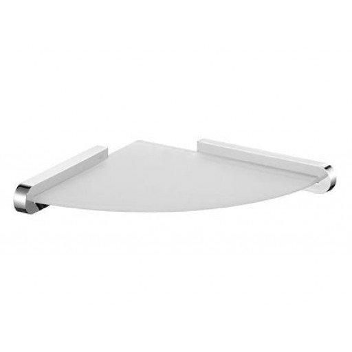 Ъглов рафт за баня Futura Хром с матирано стъкло